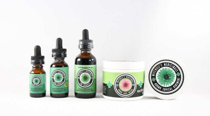 Mitchell's Medicinals CBD product sizes